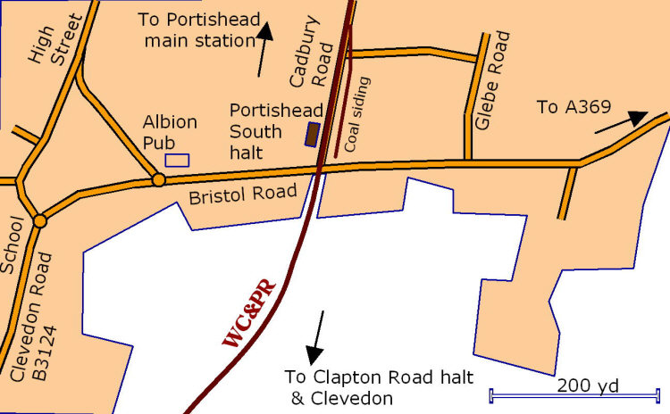 Portishead South detail map