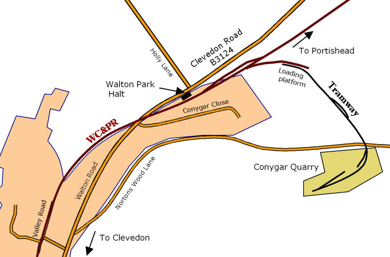 Walton Park halt detail map