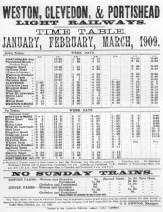 1909 Timetable