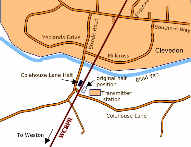 Colehouse Lane detail map